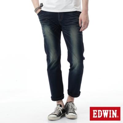 EDWIN-AB褲-迦績褲JERSEYS針織3D牛仔褲-男-酵洗藍