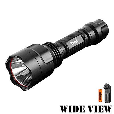 【WIDE VIEW】新一代T6大光圈遠射IPX7防水手電筒組(NTL-C8-AY)