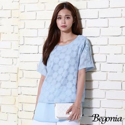Begonia 刺繡緹花雪紡上衣(共二色)