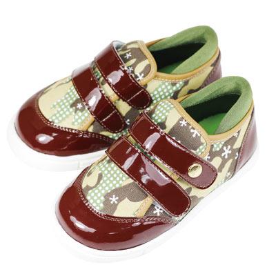 Swan天鵝童鞋-漆皮迷彩布運動休閒鞋 3726-綠