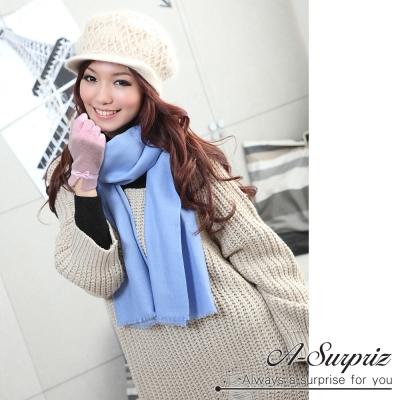 A-Surpriz-優雅小蝴蝶結羊毛手套-淺紫