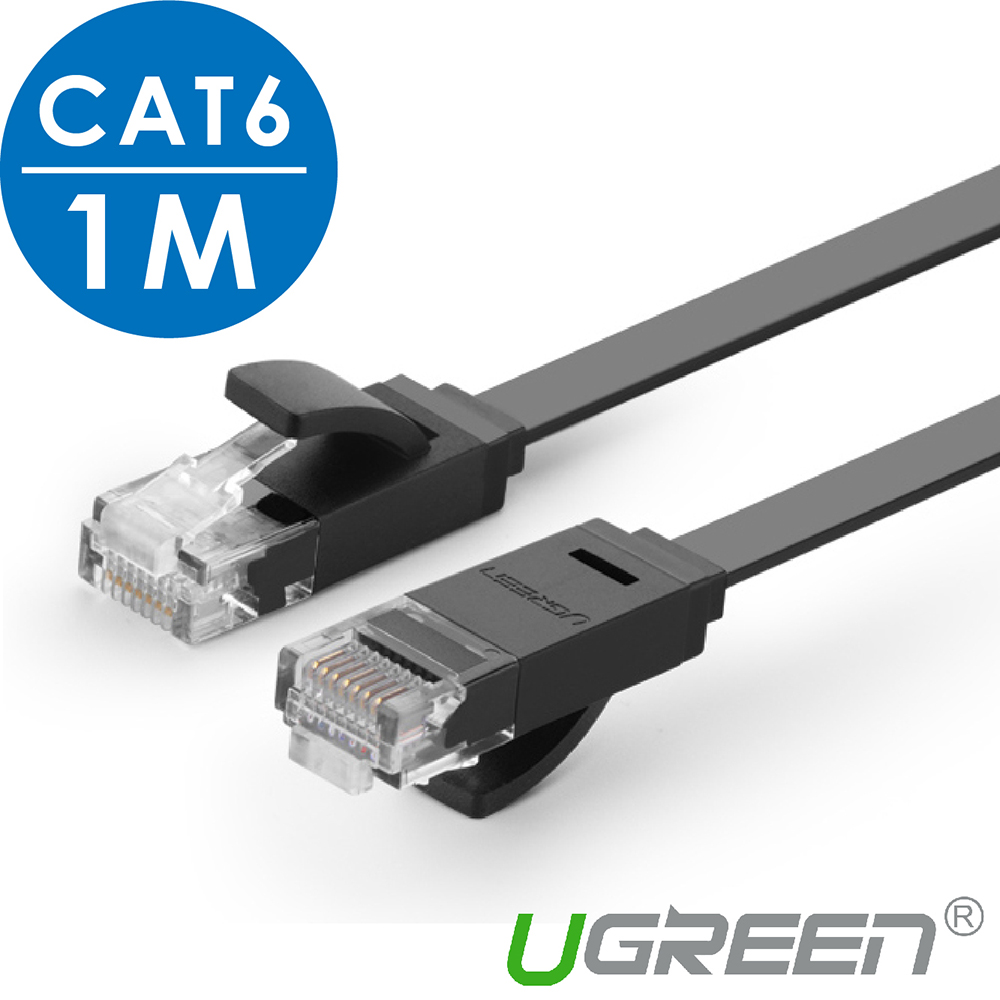 綠聯 CAT6網路線 FLAT版 1M
