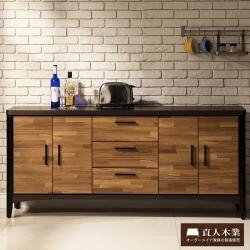 日本直人木業傢俱-BRAC層木6尺廚櫃(176x40x80cm)免組