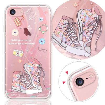 YOURS-APPLE-iPhone7-4-7吋-奧地利水晶彩繪防摔氣墊手機鑽殼-致青春