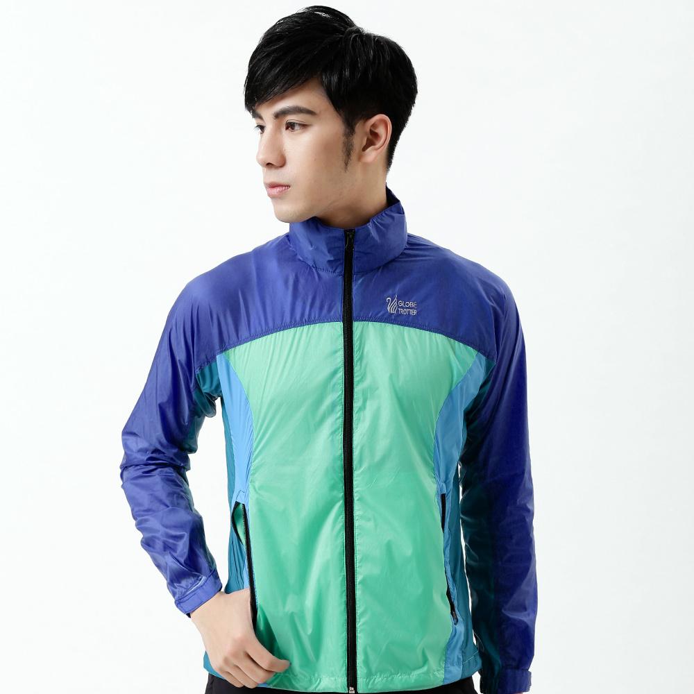 【遊遍天下】中性款超薄輕量防風防潑水抗UV外套22湛藍