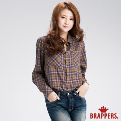BRAPPERS 女款 柔感舒適雙口袋襯衫-卡其
