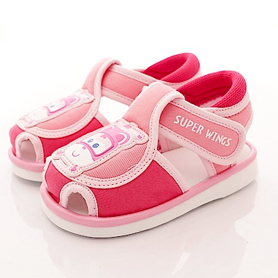 SUPER WINGS 護趾嗶嗶涼鞋款 EI3205 桃 (寶寶段)