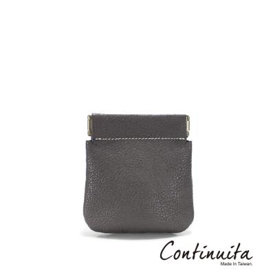 Continuita-康緹尼-MIT-頭層牛皮口袋零錢包-灰色