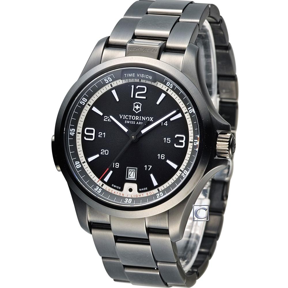 Victorinox Night 夜視功能系列運動腕錶-黑/42mm