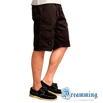 Dreamming 美式休閒多口袋五分短褲-共二色