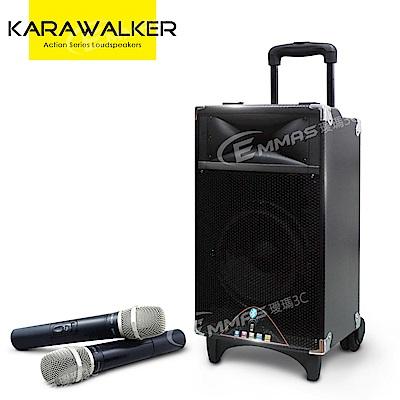 KARAWALKER行動藍芽拉桿式擴音音箱-無線麥克風版 EA-9028