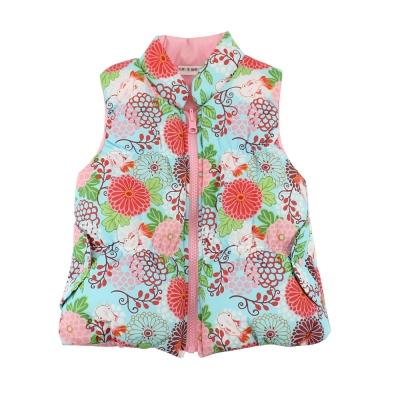 愛的世界-鋪棉半高領兩面穿背心-粉紅-2-4歲
