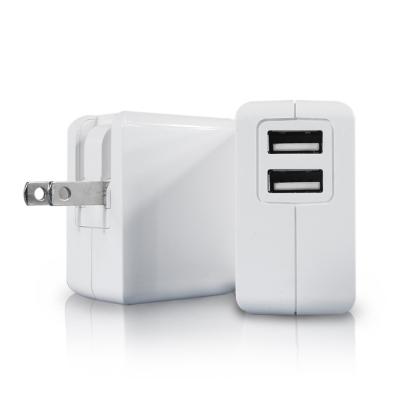 ZIYA iPhone iPad 雙USB孔 1A+2.4A 充電器/變壓器 白色情人款