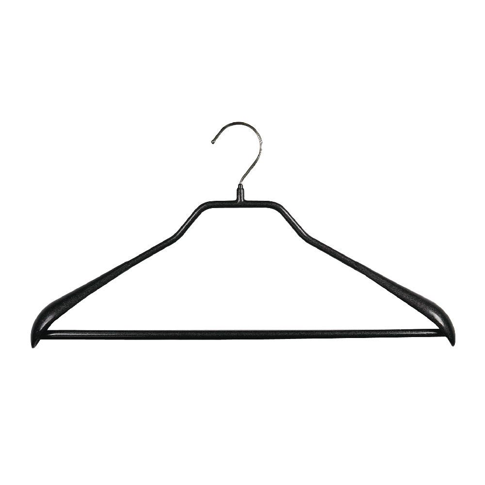 德國MAWA 時尚都會外套衣架42cm/黑色 (5入)