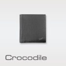 Crocodile 經典細荔紋軟皮薄型款短夾 0103-690701