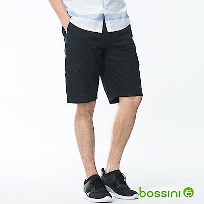 bossini男裝-素色卡其短褲01海軍藍