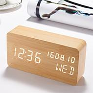 簡約時尚木質鬧鐘