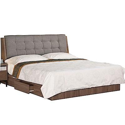 品家居  約瑟5尺布面雙人收納床台組合(不含床墊)-153x211x100cm免組