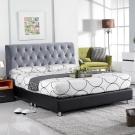 AT HOME-喬安娜5尺布面雙人床頭片(鐵灰色)