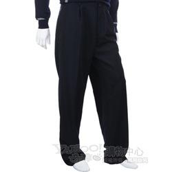 BOSS 深藍色抓褶西裝褲(綠色logo)