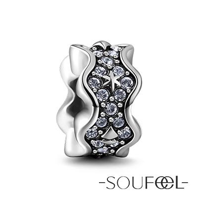 SOUFEEL索菲爾 925純銀珠飾 白色聖誕節 定位珠