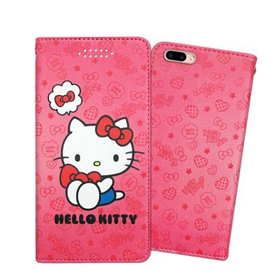 三麗鷗授權 Hello Kitty 凱蒂貓 OPPO R11 甜心彩繪磁扣皮套(...