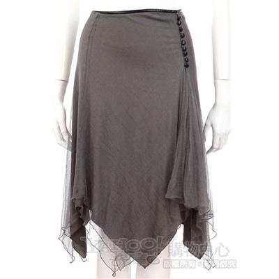 ALMA 灰色不規則造型及膝裙