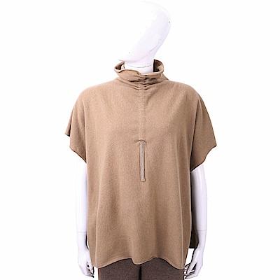FABIANA FILIPPI 抽繩鬆高領設計駝色美麗諾針織羊毛衫