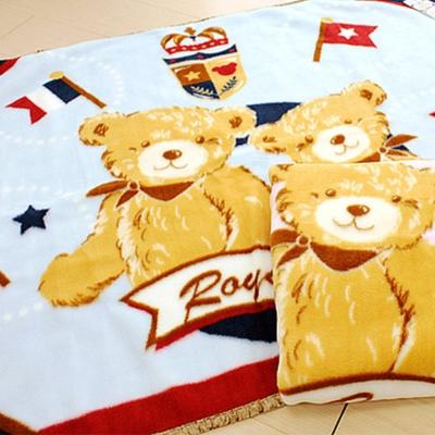 Tokyo西川 歡慶雙熊童毯 藍