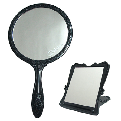 GALATEA古典玫瑰手拿鏡-折疊立鏡