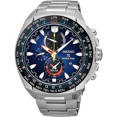 SEIKO 精工 Prospex 海世界計時腕錶(SSC549P1)-藍/44mm