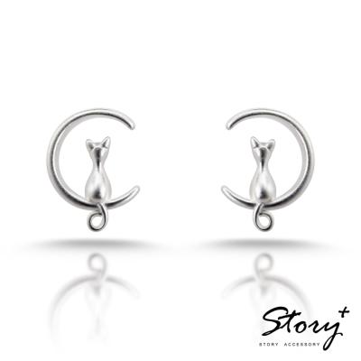 STORY ACCESSORY-月牙小貓-純銀耳環