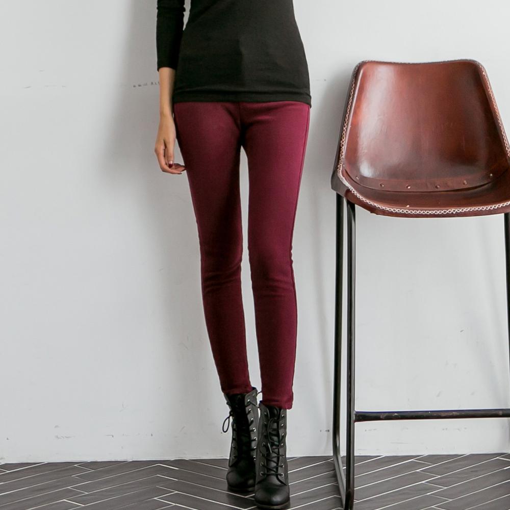 正韓 基本百搭款顯瘦磨毛窄管褲 (共七色)-N.C21