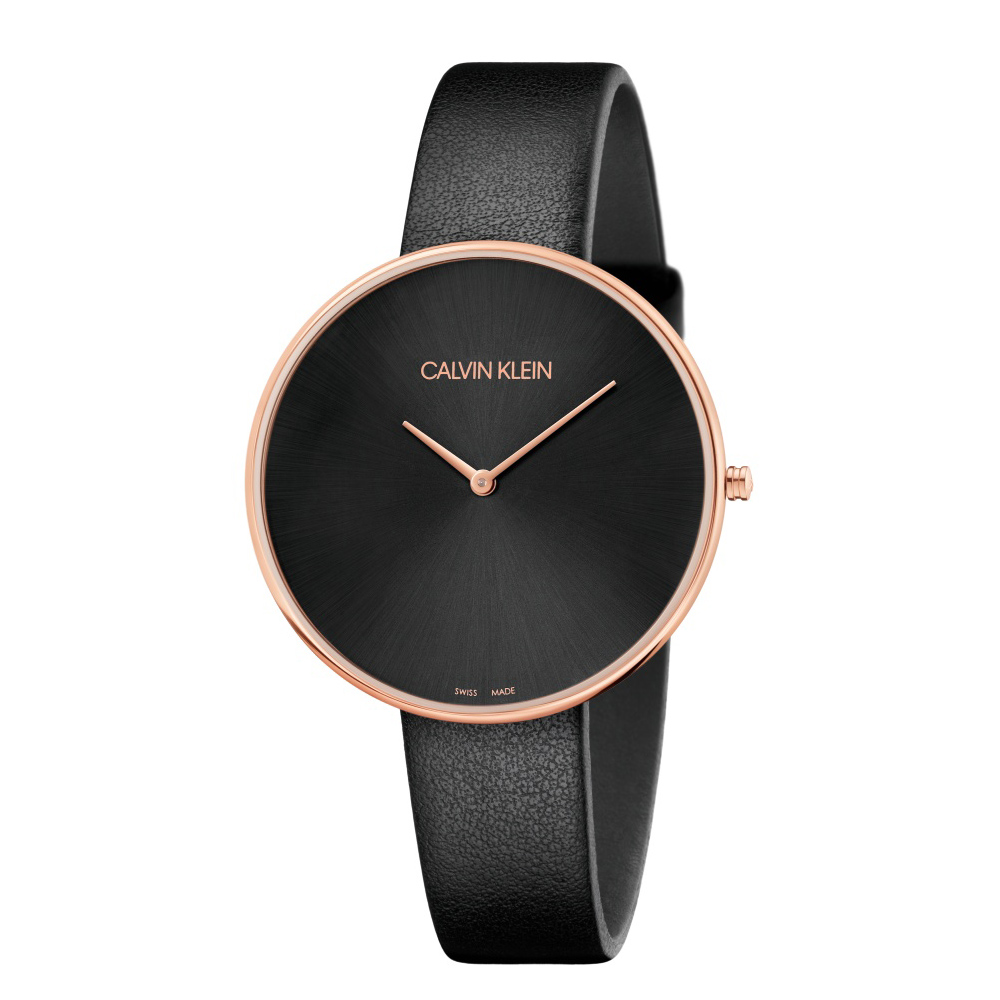 CK CALVIN KLEIN Full Moon 系列 望月系列黑色玫瑰金款手錶