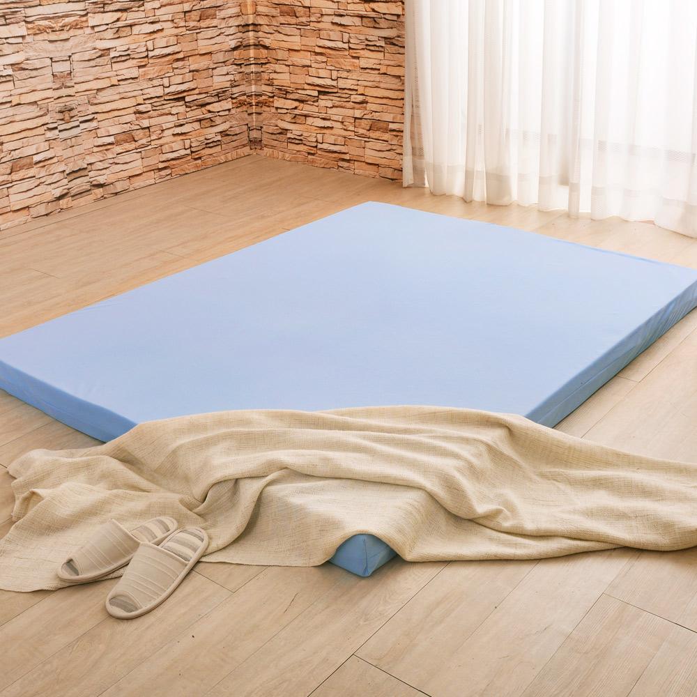 LooCa 綠能護背8cm減壓床墊-加大 搭吸濕排汗表布