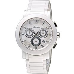 Diadem 黛亞登 巴黎時尚計時陶瓷腕錶-白/41mm