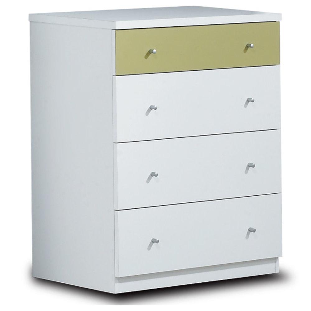 居家生活 貝特絲2.5尺白色四斗櫃