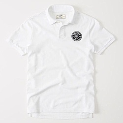 AF a&f Abercrombie & Fitch POLO 白色 0576