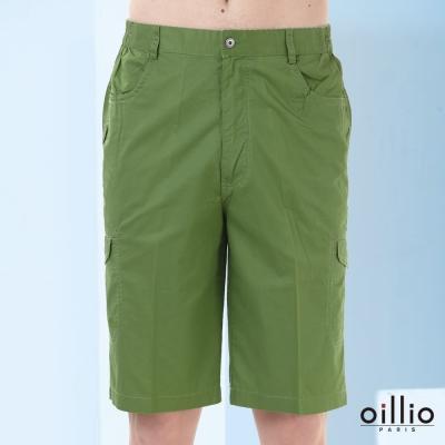 歐洲貴族oillio-休閒短褲-多彩帆船-雙邊口袋-綠色