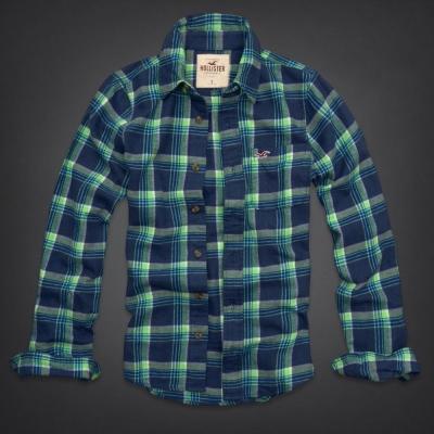 Hollister HCO 長袖 襯衫 藍色 0154