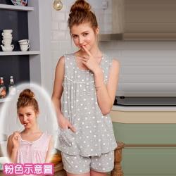 睡衣 100%精梳棉柔短袖兩件式睡衣(67025)綿羊牧場 粉色-台灣製造 蕾妮塔塔