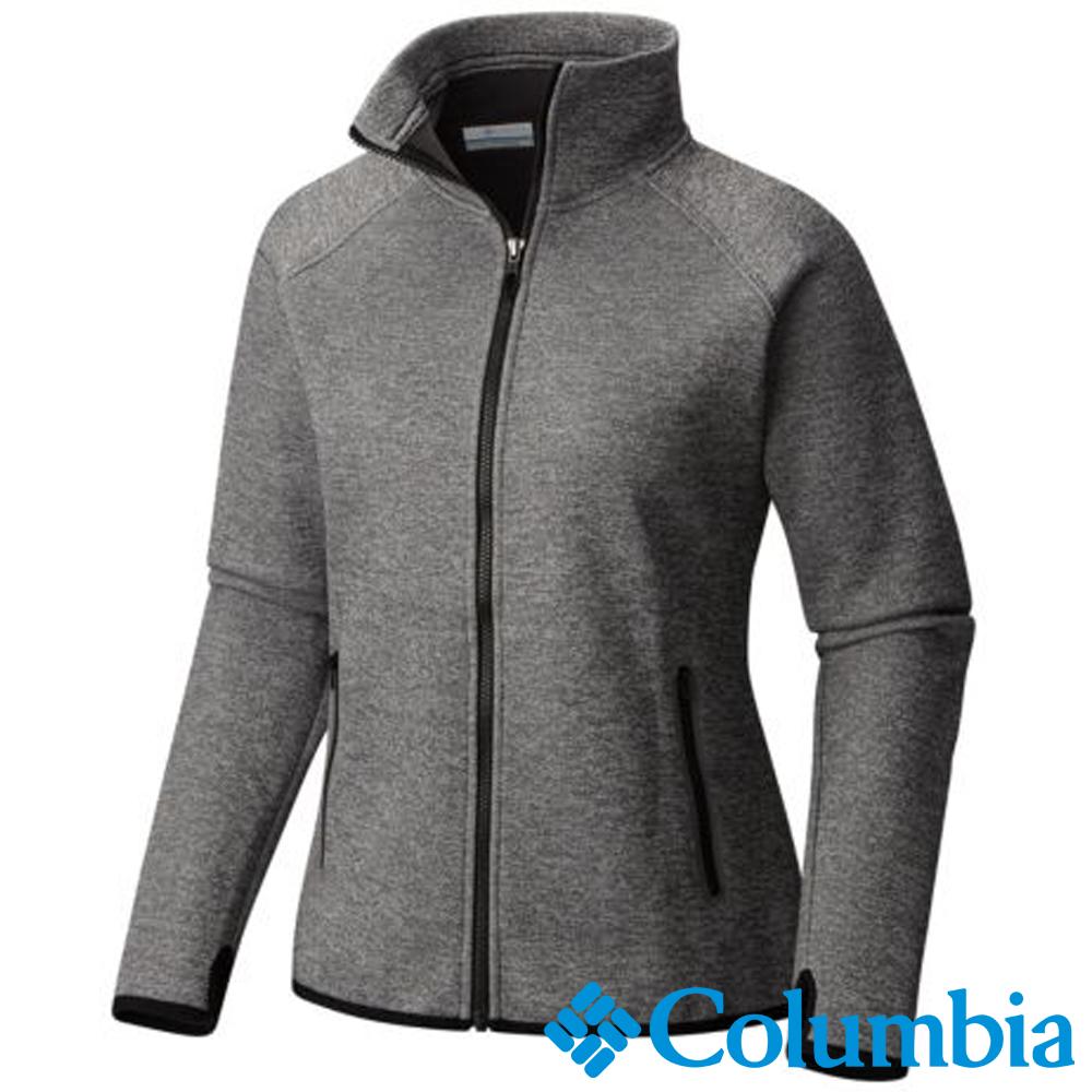 Columbia哥倫比亞  女款-快排保暖高領外套-灰色 UAR03420GY