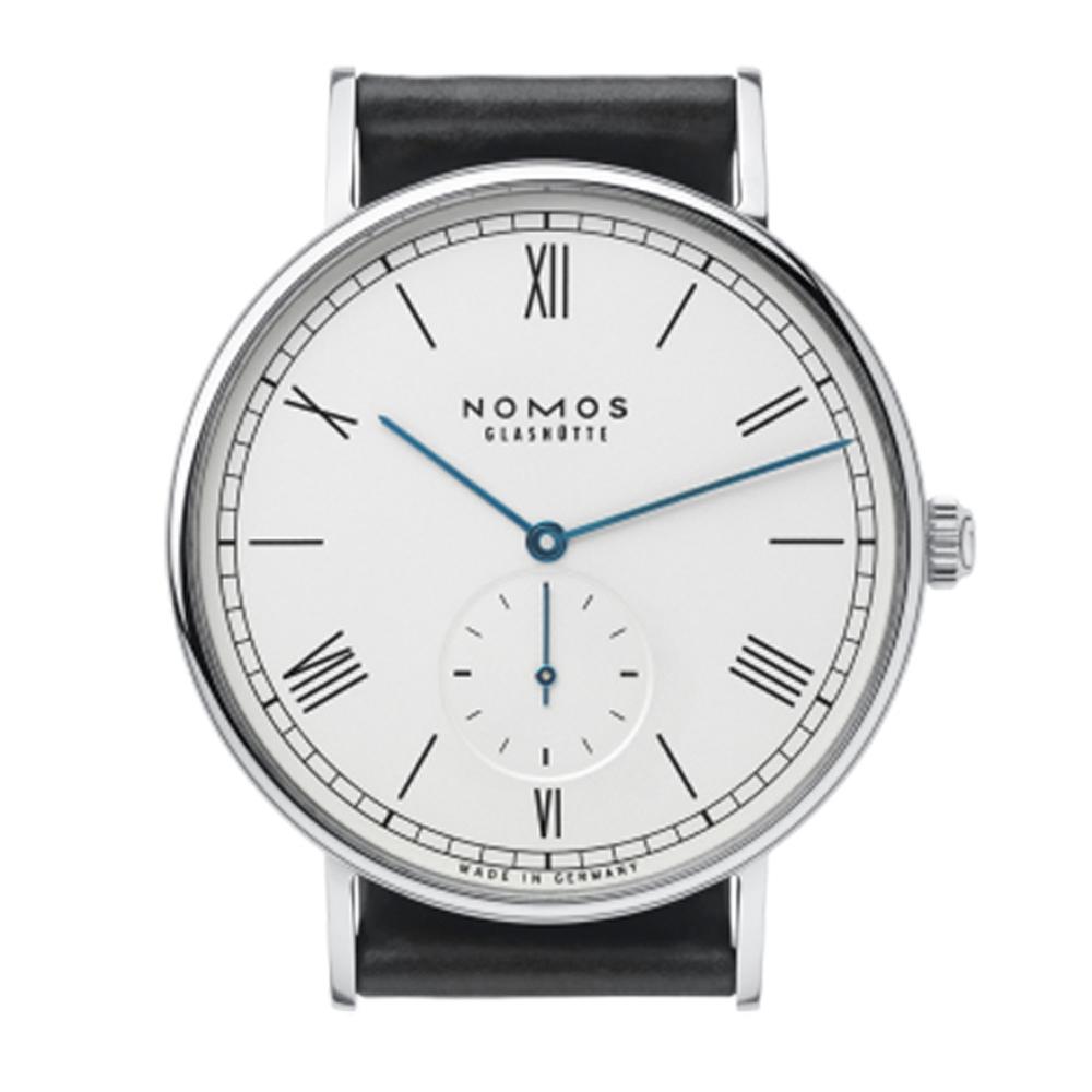 NOMOS Ludwig Automatic 251 小秒針機械腕錶-白/40mm
