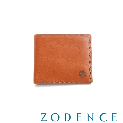 ZODENCE-MAN-簡約系列兩折多卡層短夾-駝
