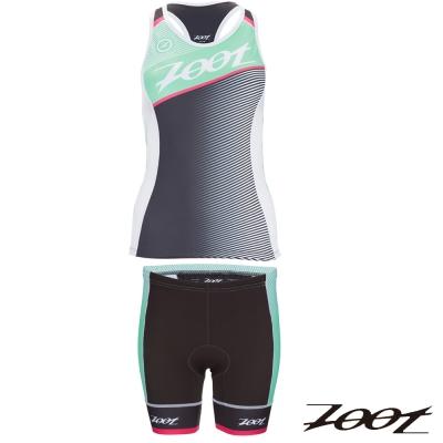 ZOOT國際選手限量版鐵人服(兩截式)(女)Z1606015+16(綠)