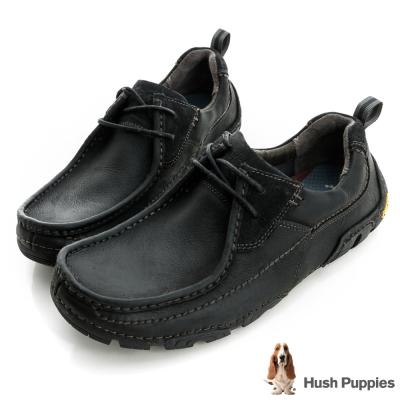 Hush Puppies 多功能黃金大底休閒鞋-黑