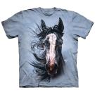 摩達客 美國進口The Mountain 追擊暴風馬  純棉環保短袖T恤