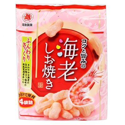 越後製果 鹽烤蝦味米果(56g)