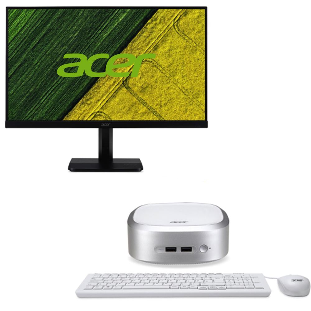 acer宏碁Revo RN66迷你桌機薄邊框電腦螢幕組23.8吋
