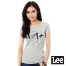 Lee 101+logo短袖T恤-女-灰